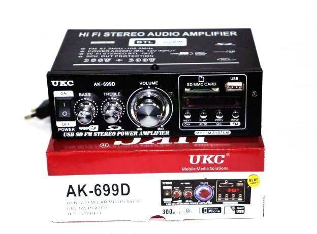 Стереоусилитель UKC AK-699BT Bluetooth, усилитель мощности звука автомобильный канальный