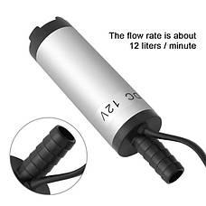 Погружной насос 12В из для перекачки (откачки) воды, жидкости, топлива, масла, фото 3