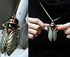 Цепочка кулон подвес- муха насекомое овод шмель металл крупная, фото 2