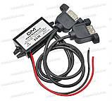 Авто адаптер конвертер №2 2х USB под монтаж с 7/12v на 5V 15W преобразователь конвертор инвертор, фото 4