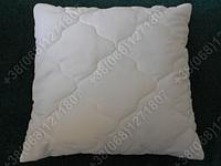 Подушка Merkys 70x70 Mickrofibre белая со съемной стеганой наволочкой