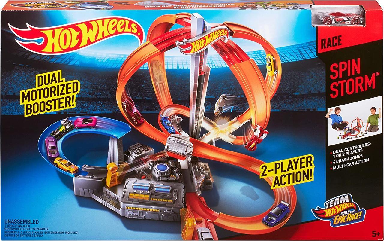 """Трек Хот Вилс Головокружительные виражи """"Шторм"""" Hot Wheels Spin Storm Track Оригинал из США"""