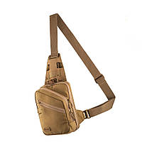 M-Tac однолямочная пистолетная сумка-кобура наплечная коричневая Sling Pistol Bag Elite Coyote