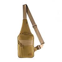 M-Tac однолямочная пистолетная сумка-кобура наплечная коричневая Elite Gen.IV Coyote