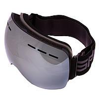 Лыжная маска SPOSUNE черная HX021 (линзы серебряные зеркальные)