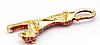 Брошь брошка значок металл красный гепард пантера кошка, фото 3