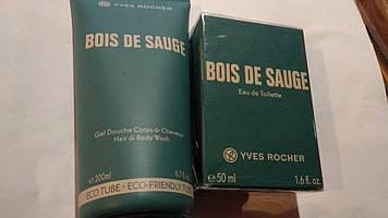 Набір ів роше туалетна Вода Bois de Sauge +Парфумований Гель для Тіла та Волосся Bois de Sauge