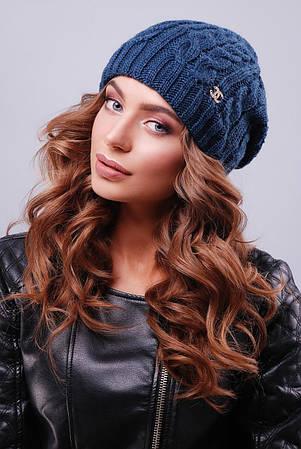 Синея Женская шапка с текстурными узорами