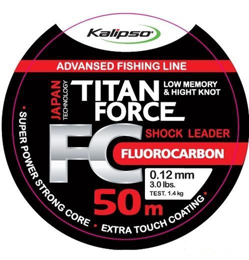 Флюорокарбон Kalipso Titan Force FC Leader 50m 0.20mm 3.2kg, Japan