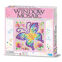 Набор для творчества 4M Мозаика на окно (3 в ассорт. бабочка/дельфин/котенок) (00-04526), фото 1