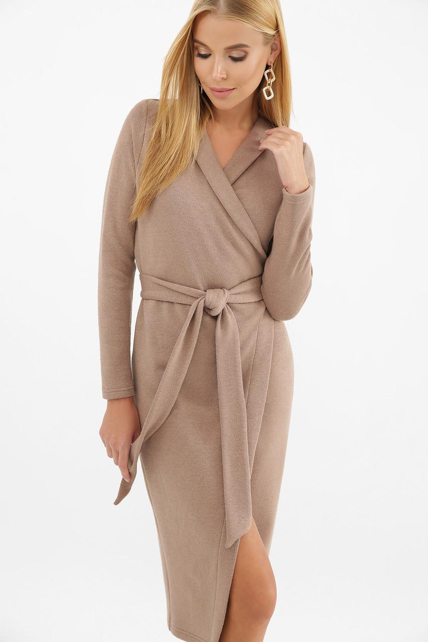 Ангоровое платье на запах