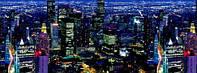 """3Д светящиеся обои """"Ночной мегаполис"""" 135/270см."""