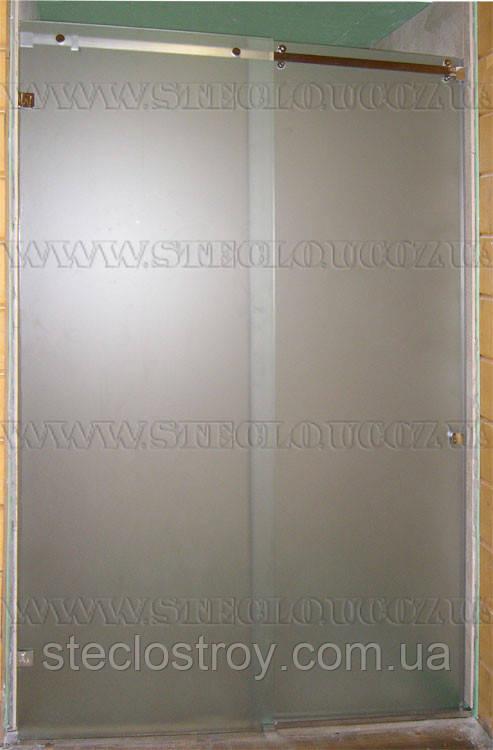 Душевые перегородки из стекла с раздвижной дверью