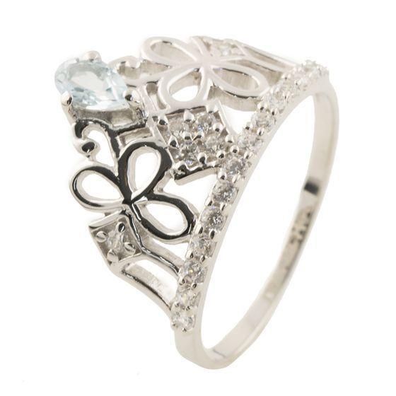 Серебряное кольцо pSilverAlex с фианитами (1147245) 16.5 размер