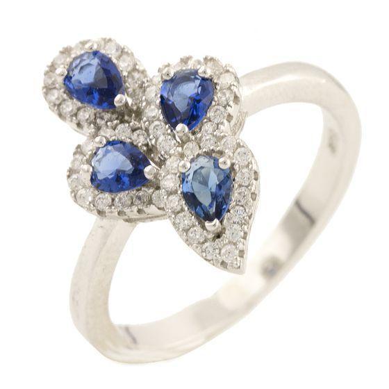 Серебряное кольцо pSilverAlex с фианитами (1159859) 16 размер