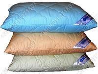 Подушка Merkys 70x70 Mickrofibre голубая со съемной стеганой наволочкой