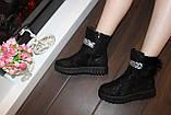 Ботинки женские черные Д475, фото 4