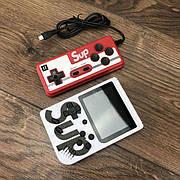 Портативная игровая консоль ретро приставка с джойстиком Retro FC Sup Game Box 400 игр dendy денди 8бит белая