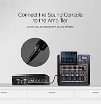 Микрофонный кабель Ugreen AV130 XLR Male to Female Microphone Cable (Черный, 1м), фото 3