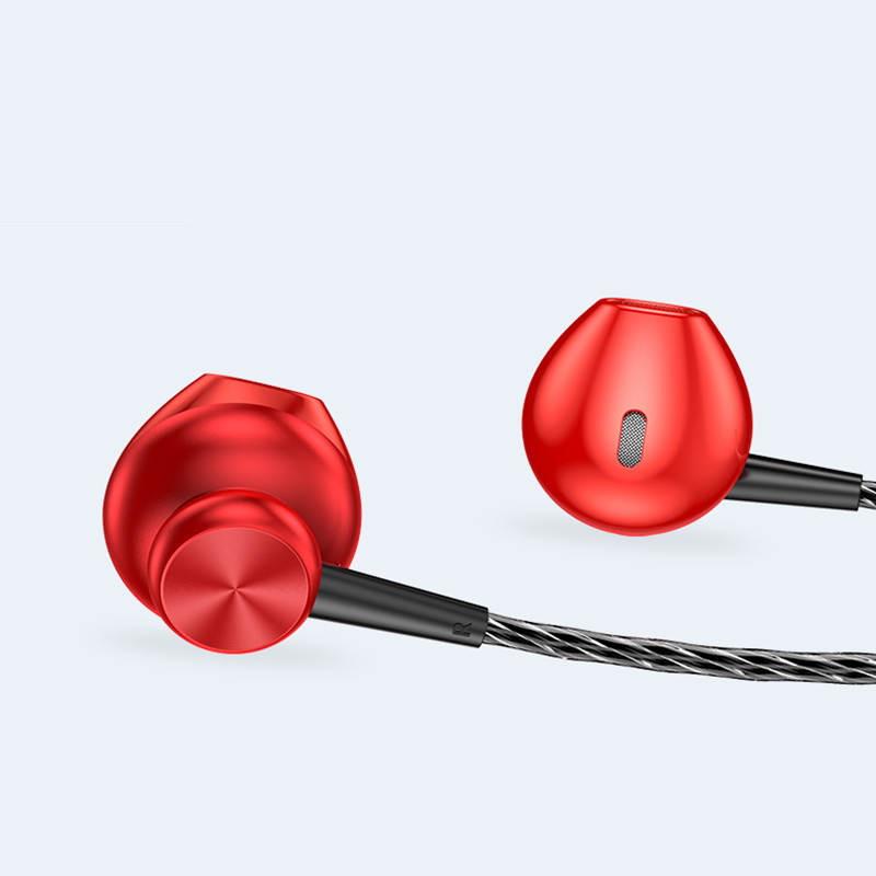 Дротові стерео навушники вкладиші (1.2 м) гарнітура з мікрофоном для телефону KUULAA S3 In-Ear Earphones 3D
