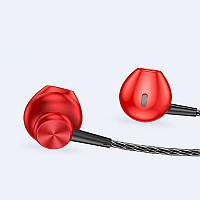 Дротові стерео навушники вкладиші (1.2 м) гарнітура з мікрофоном для телефону KUULAA S3 In-Ear Earphones 3D, фото 1