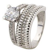 Серебряное кольцо DreamJewelry с фианитами (1117774) 17 размер