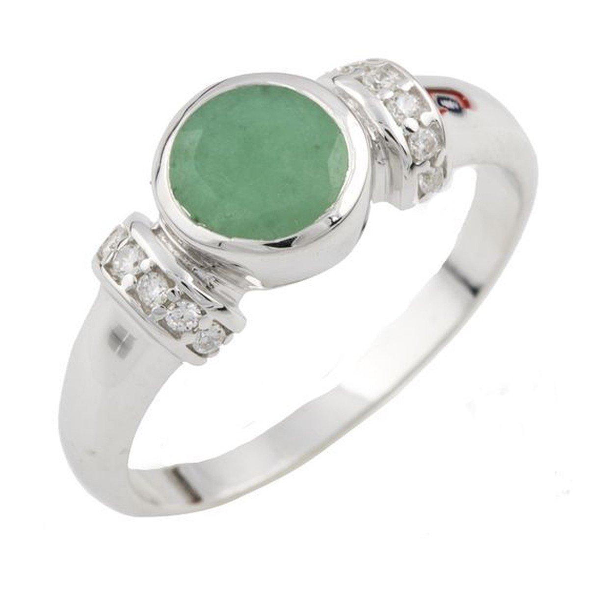 Серебряное кольцо DreamJewelry с натуральным агатом (1137550) 17 размер