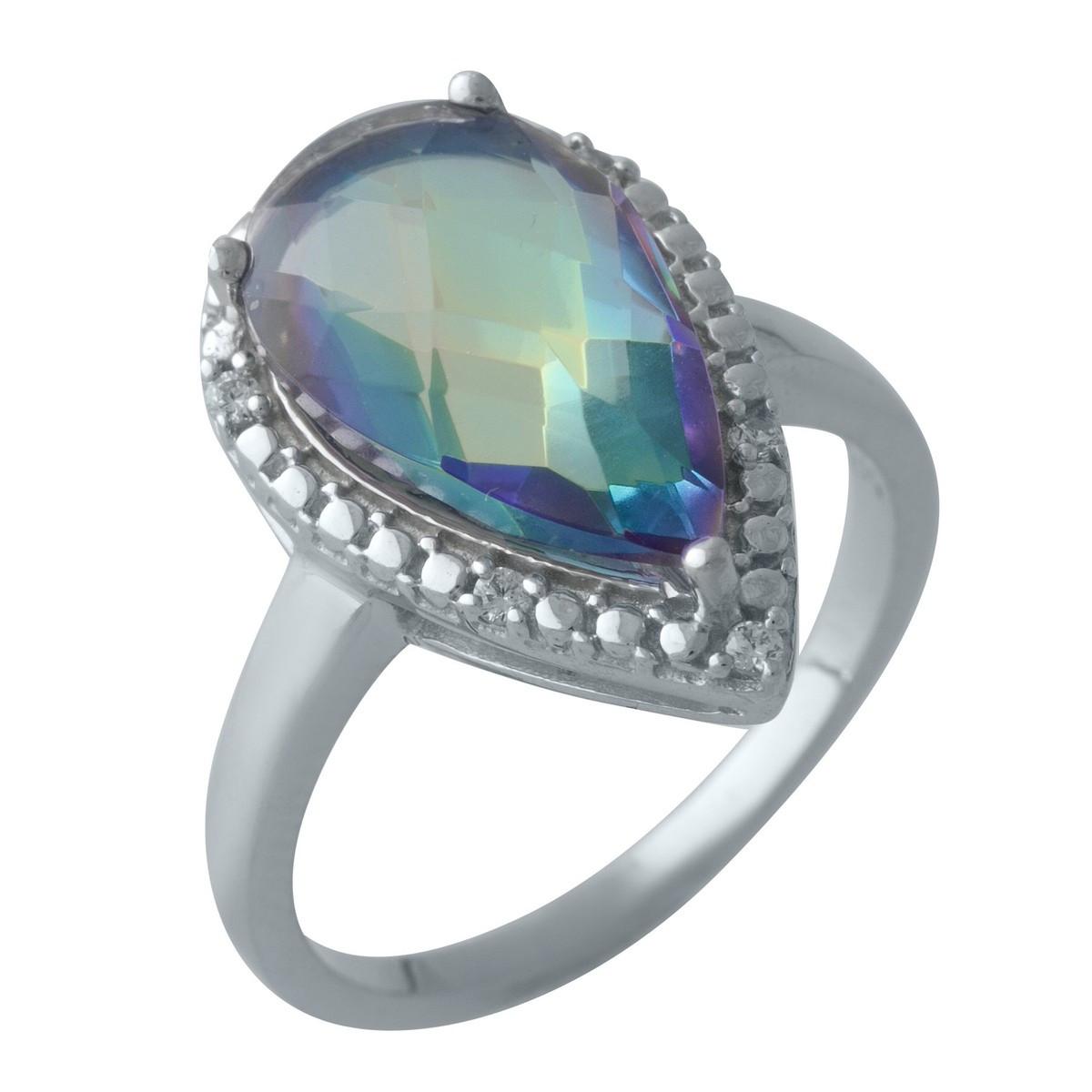 Серебряное кольцо DreamJewelry с натуральным мистик топазом (2004936) 17 размер
