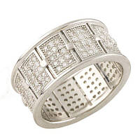 Серебряное кольцо DreamJewelry с фианитами (1276808) 16 размер