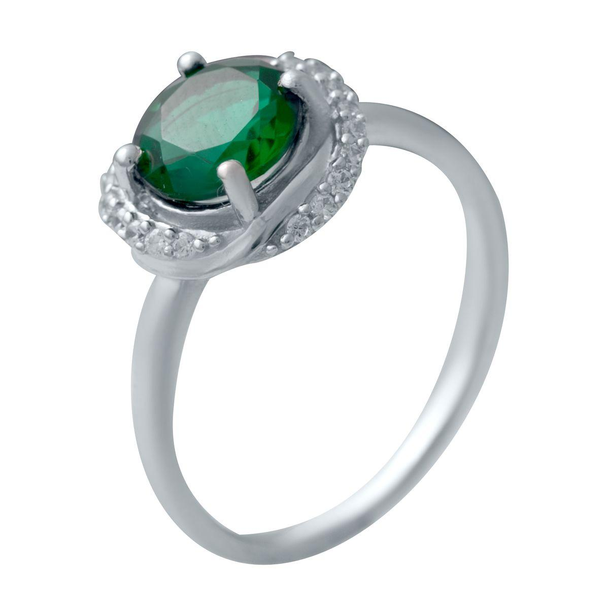 Серебряное кольцо DreamJewelry с изумрудом nano 1.208ct (2034179) 18 размер