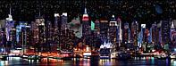 """3Д светящиеся обои """"Нью-Йорк"""" 135/337см."""