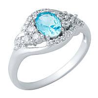 Серебряное кольцо DreamJewelry с аквамарином nano (1948828) 18 размер, фото 1