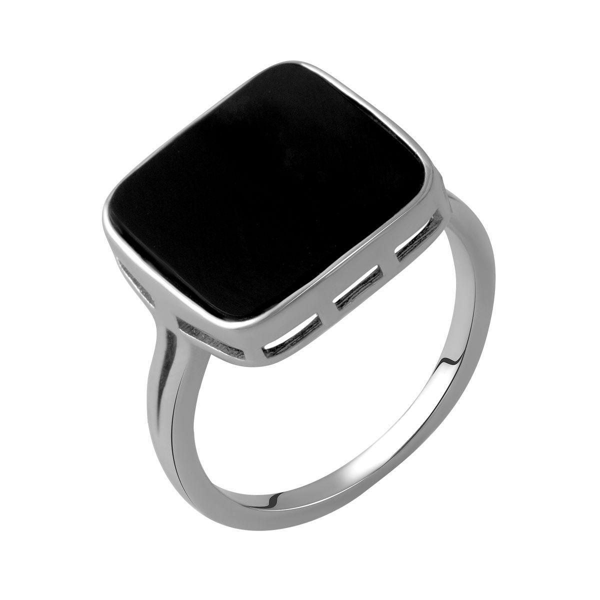 Серебряное кольцо DreamJewelry с натуральным ониксом (2044482) 18 размер