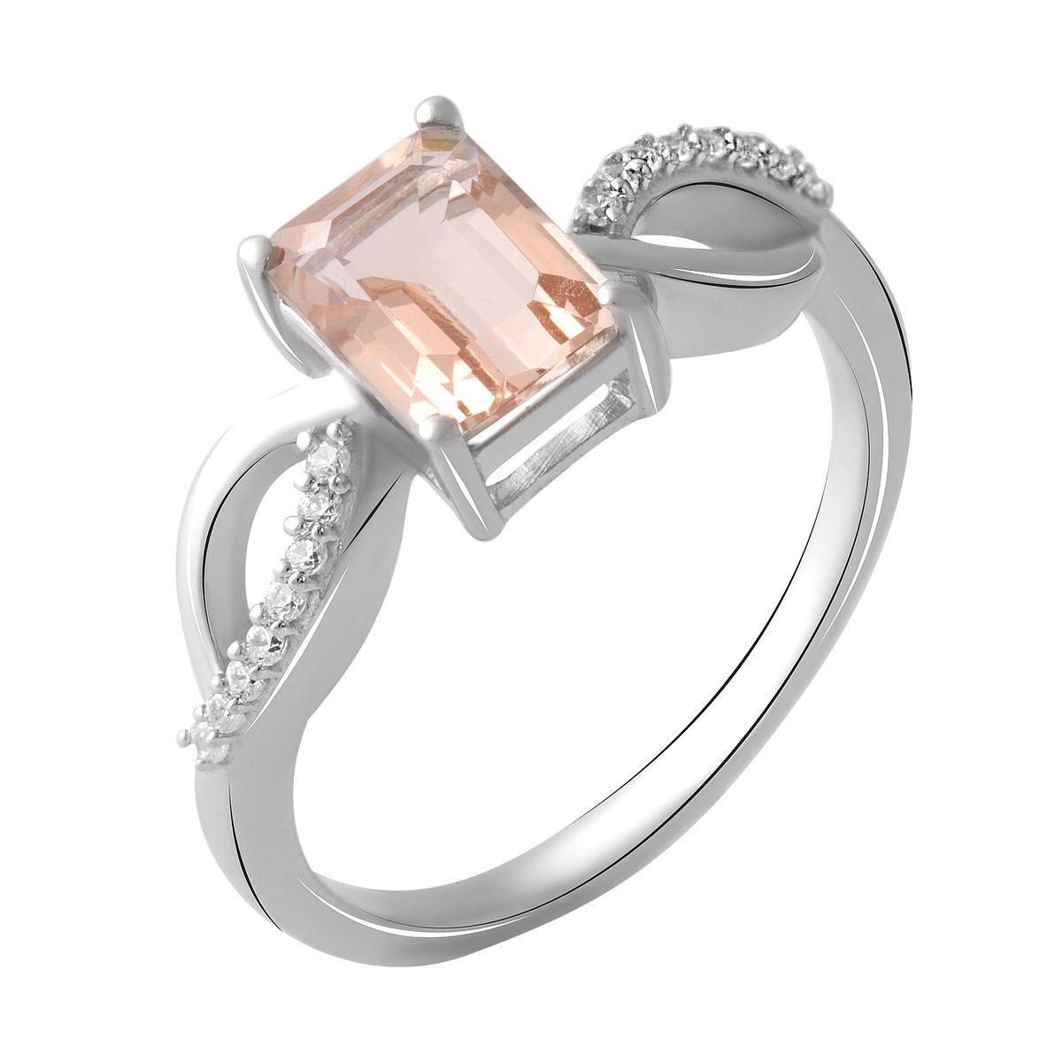 Серебряное кольцо DreamJewelry с морганитом nano 1.6ct (2045403) 18 размер