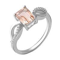 Серебряное кольцо DreamJewelry с морганитом nano 1.6ct (2045403) 18 размер, фото 1