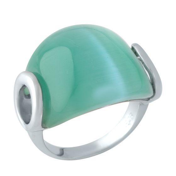 Серебряное кольцо DreamJewelry с кошачим глазом (1956755) 17 размер