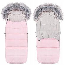 Детский конверт для коляски, санок Maxi 4 в 1 Springos SB0024 розовый. Детский спальник в коляску - Бесплатная