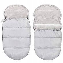 Детский конверт для коляски, санок 4 в 1 Springos SB0031 серый. Детский спальный мешок для коляски - Love&Life