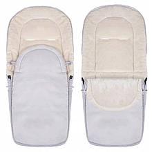 Детский конверт для коляски, санок 4 в 1 Springos SB0035 серый. Детский спальный мешок для коляски - Love&Life