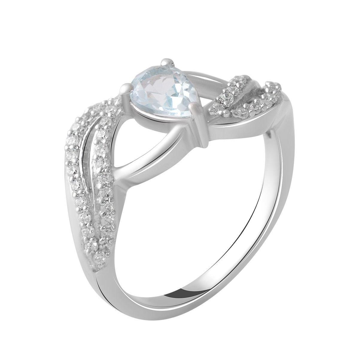 Серебряное кольцо pSilverAlex с натуральным топазом (2049203) 18 размер