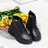 Трендовые повседневные черные женские ботинки из натуральной кожи, фото 9