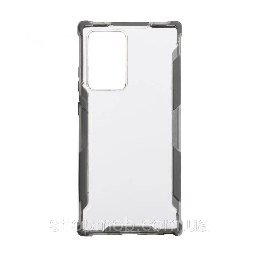 Чехол Armor Case Color Clear for Samsung Note 20 Plus Цвет Серый