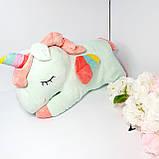 Сказочный единорог 3 в 1 (плед+игрушка+подушка) Мятный!, фото 2