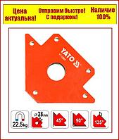 Струбцина магнітна Yato для зварювання 102 Х 155 Х 17 мм 22.5 кг Ø=28 мм