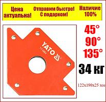 Струбцина магнітна Yato для зварювання 122 Х 190 Х 25 ММ 34 кг Ø=46 мм