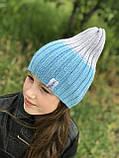 Демисезонная детская шапка вязаная детская шапка ручная вязка., фото 2
