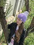 Демисезонная детская шапка вязаная детская шапка ручная вязка., фото 5