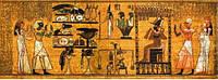 """3Д светящиеся обои """"Классический папирус"""" 135/347см."""