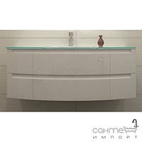 Мебель для ванных комнат и зеркала Marsan Тумба подвесная с белой столешницей из искусственного камня и раковиной Marsan Madeleine 2 1200 белый