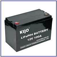 Аккумулятор LiFePo4 12В 100Ач Kijo, фото 1